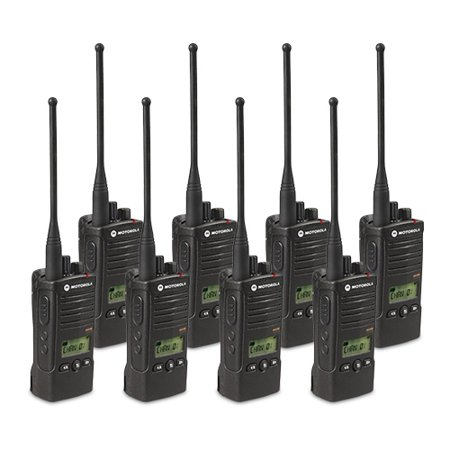 Motorola RDU4160D (8 Pack) RDX Business Series Two-Way UHF Radio w/ 16  Channel