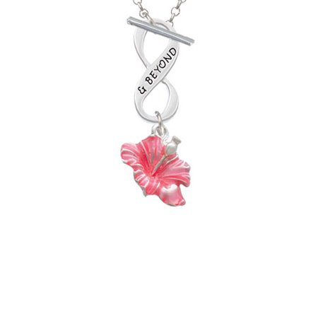 Delight Jewelry Hot Pink Hibiscus Flower Beyond Infinity Toggle