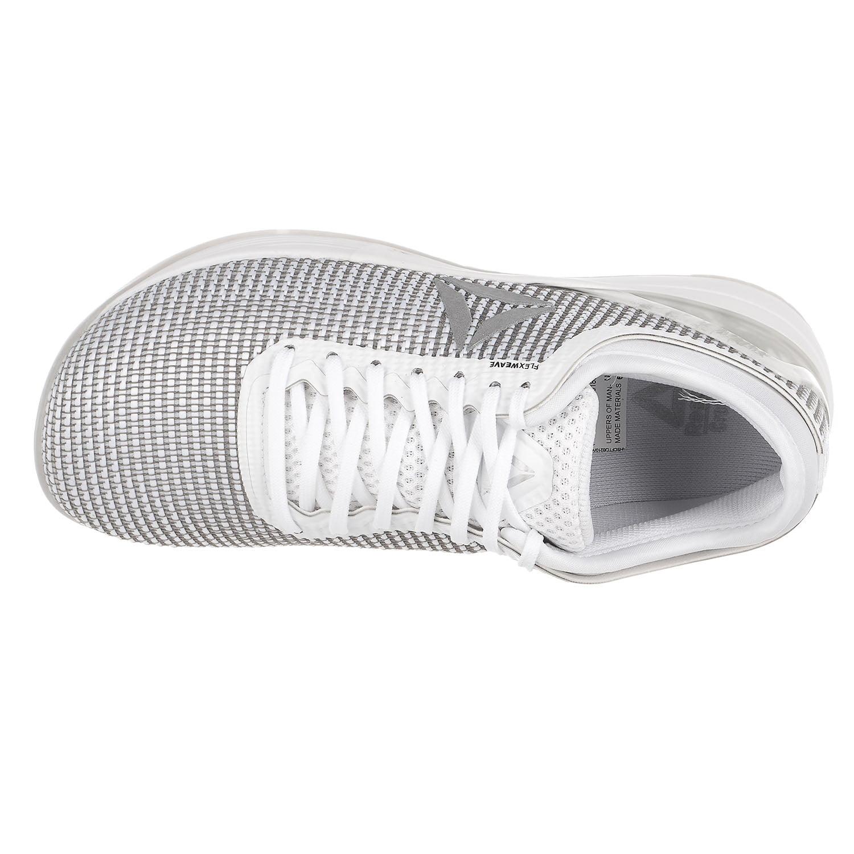 9c20675def29 Reebok - Reebok Crossfit Nano 8.0 Flexweave Running Shoe - White Skull  Grey Pure Sil - Womens - 9 - Walmart.com