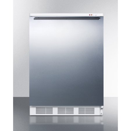 Vt65m7bisshh Accucold 24  Upright Freezer With 3 5 Cu  Ft  Capacity  Manual Defrost  Adjustable Thermostat  Three Slide Out Drawers And Professional Horizontal Handle In Stainless Steel