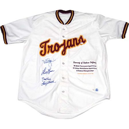 new style b5f06 538e6 Mark McGwire Tom Seaver Randy Johnson Fred Lynn Signed USC Trojans Stat  Jersey