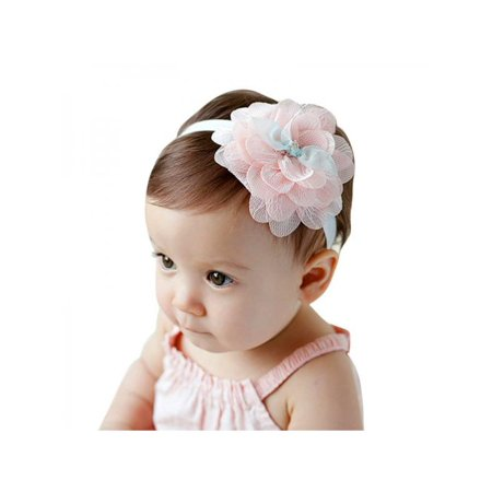 Nicesee Girl Infant Headband Flower Hair Bow Lace - Flower Girl Accessories
