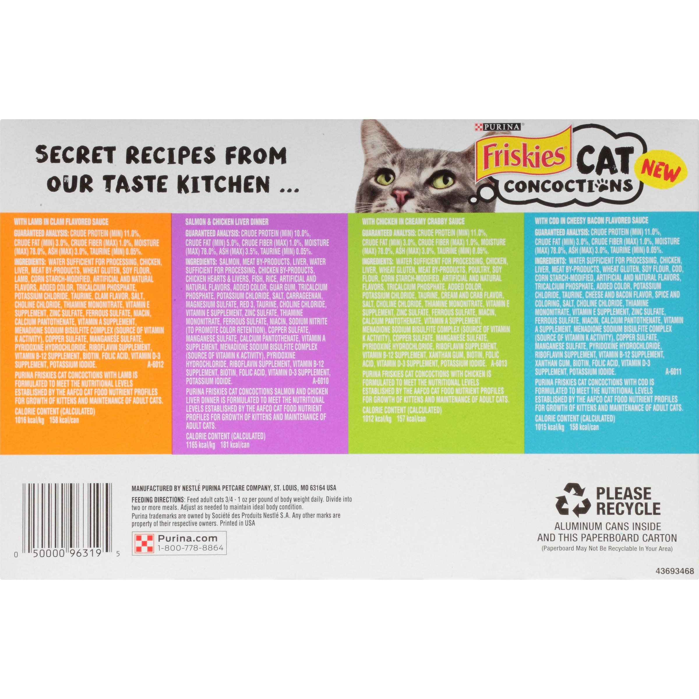 Cat Food Friskies Ingredients