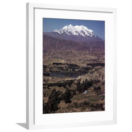 Illimani, 21184 Ft, Near La Paz, Bolivia, South America Framed Print Wall Art By Walter (Homes For Sale In Bolivia South America)