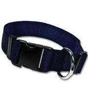 Strapworks AC-BL112-L 1. 5 W inch Adjustable Basic Line Dog Collar - Large