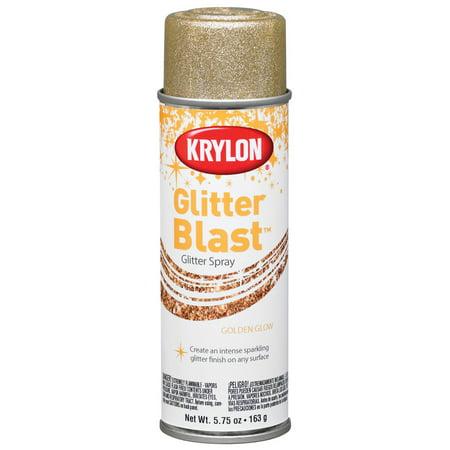 Krylon Glitter Blast Spray Paint, 5.7 oz., Golden Glow