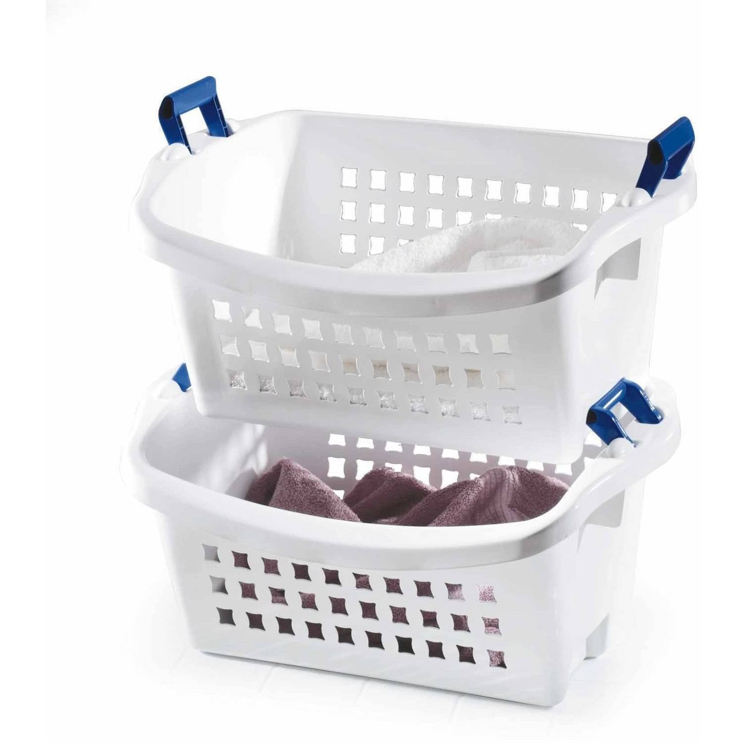 Rubbermaid 1.6 BU Stack-n-Sort Laundry Basket, White (1 Piece)