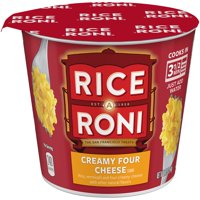 (6 pack) Rice-A-Roni Rice & Vermicelli Mix Creamy Four Cheese, 2.25 oz Cup