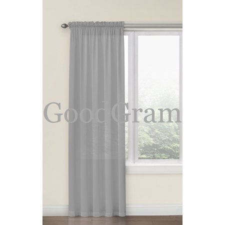 GoodGram Hyatt Ultra Luxurious Faux Silk Window Curtain Panel - -
