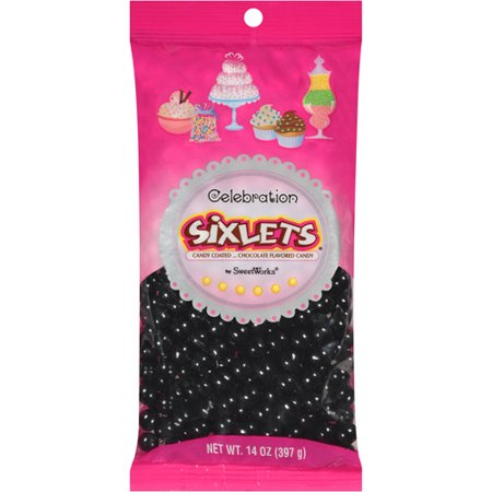 Celebration by SweetWorks Sixlets Chocolate Flavored Black Candy, 14 oz](Signets Halloween)