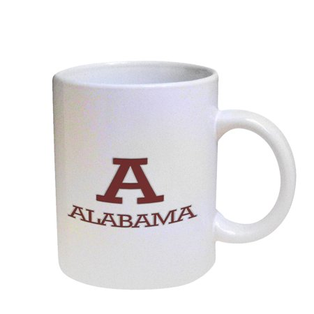 KuzmarK Coffee Cup Mug Pearl Iridescent White - Alabama -
