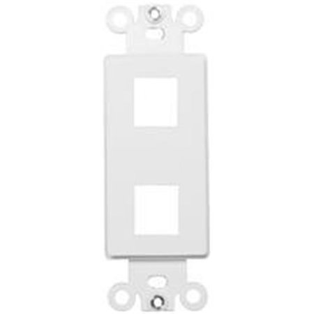 Morris Products 88114 Decorator Wallplate For Keystone Jacks And Modular Inserts Two Ports White - image 1 of 1