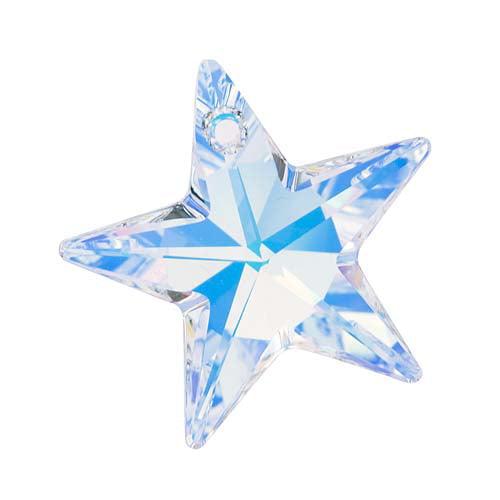 Swarovski Crystal, #6714 Star Pendant 28mm, 1 Piece, Crystal AB