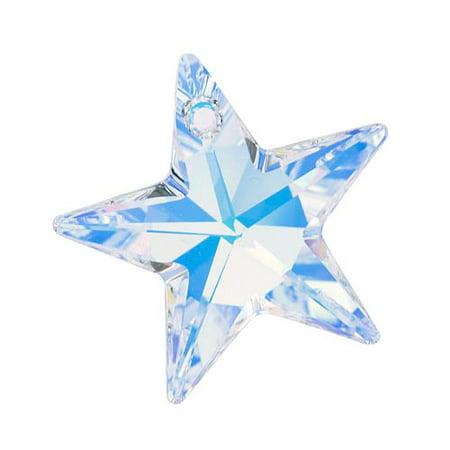 6714 Star (Swarovski Crystal, #6714 Star Pendant 28mm, 1 Piece, Crystal AB)