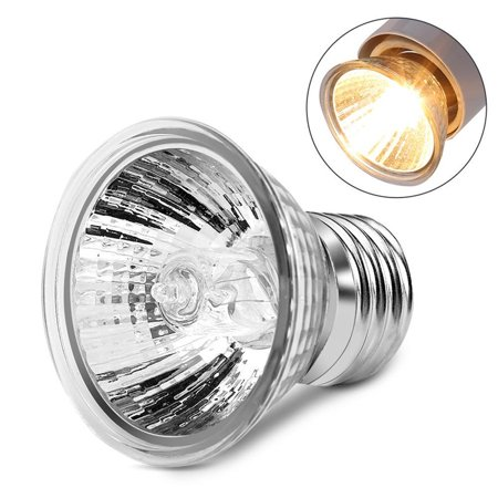 Dilwe Reptile Heat Lamp Light Bulb 75w Aquarium Lamp Heat Emitter Heater Lamp Bulb For Reptile