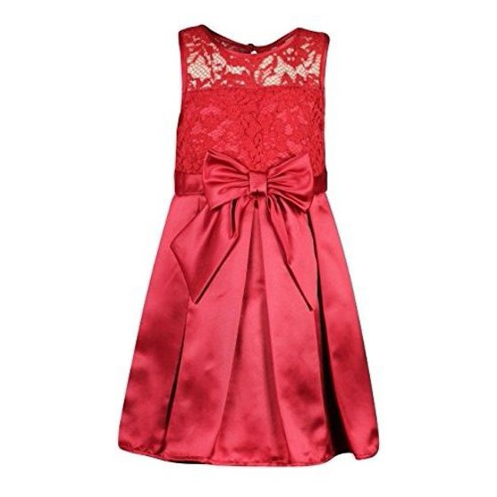b8f873038 Undisclosed - Sweet Heart Rose Little Girls 4-6X Lace to Satin Red Holiday  Dress - Walmart.com