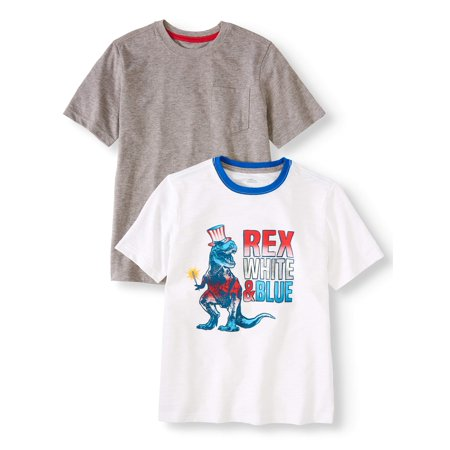 - Americana Seasonal Short Sleeve Tee, 2-Pack Set (Little Boys, Big Boys, & Husky)