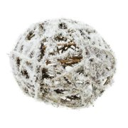 """Northlight 4"""" Frosted Twig Weave Ball Christmas Ornament - White/Brown"""