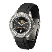 Ladies Anaheim Ducks Watch Silcone Band Crystal Bezel