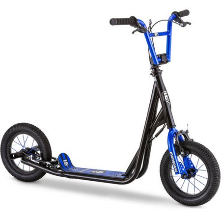 Mongoose Expo Scooter, 12-inch wheels, ages 6 and up, blue, air tires