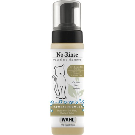 Wahl Cat Waterless No Rinse Shampoo, Coconut Lime Verbena 7.10 (Miracle Coat Cat Shampoo)