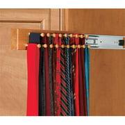 HD RSCWSTR.14B.1 Rev-A-Shelf Maple Tie Rack Black Side Mount, 14 in.