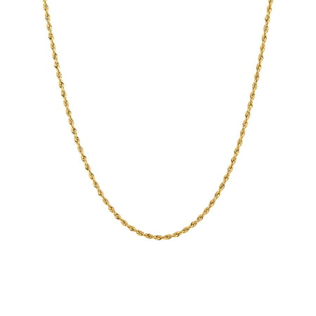 "10KT Yellow Gold 1.5mm Rope Chain, 24"" Necklace"