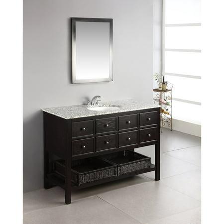 Brooklyn max davenport 48 espresso brown bath vanity for Bathroom vanities brooklyn mcdonald avenue