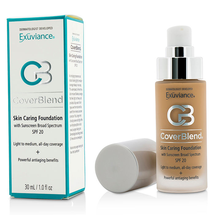 Exuviance - CoverBlend Skin Caring Foundation SPF20 # Desert Sand - 30ml/1oz