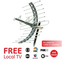 GE Pro Outdoor/Attic Mount TV Antenna, 70 Mile Range, VHF/UHF Channels, 29884