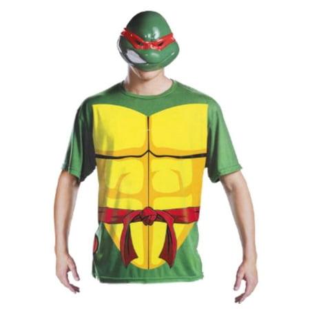 Teenage Mutant Ninja Turtles Mens Raphael Halloween 2 Go Costume with Mask L/XL