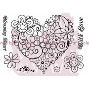"""Woodware Clear Stamps 5.5""""x3.5"""" Sheet-bl"""