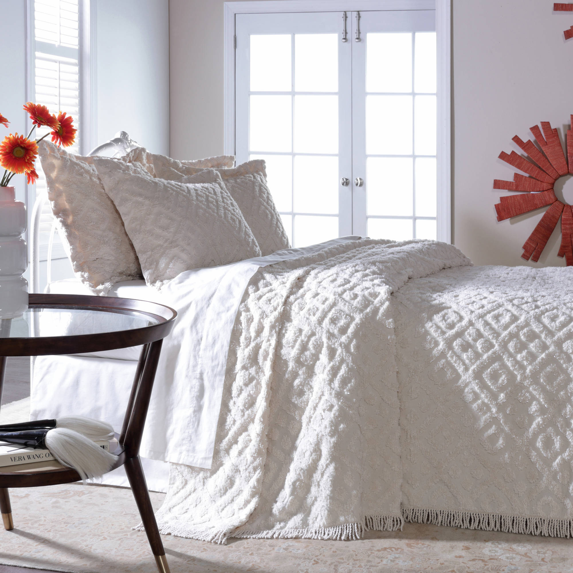 Belle Maison Diamond Tufted Chenille Bedspread