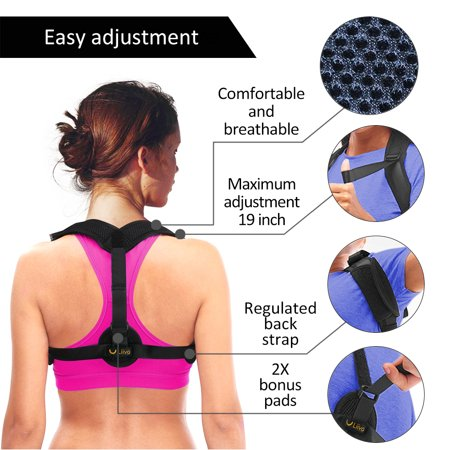 Liiva Posture Corrector for Women & Men - Adjustable Shoulder Brace for Slouching & Hunching | Invisible Back Support for Back Pain Relief | Back Brace Designed to Enhance