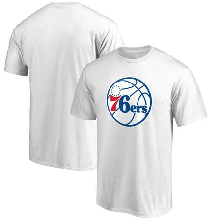 Philadelphia 76ers Fanatics Branded Primary Logo T-Shirt - White