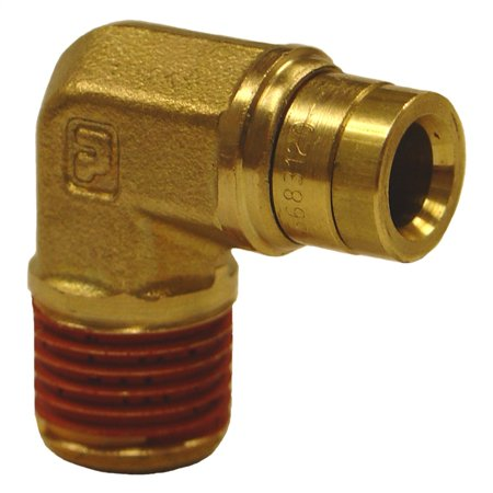 Firestone Male 1/4in. Push-Lock x 1/4in. NPT 90 Degree Elbow Air Fitting - 6 Pack (WR17603456)