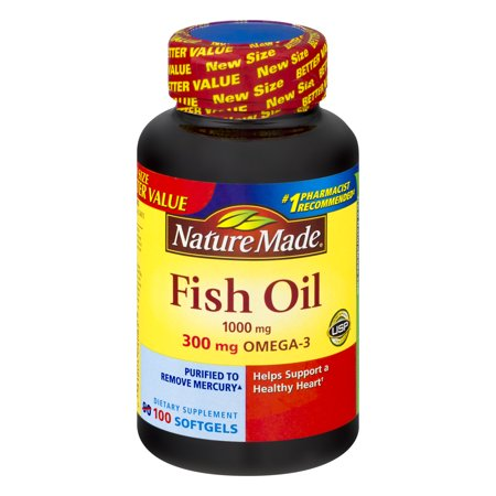Nature made fish oil 1000 mg 100 ct for Nature made fish oil 1000 mg