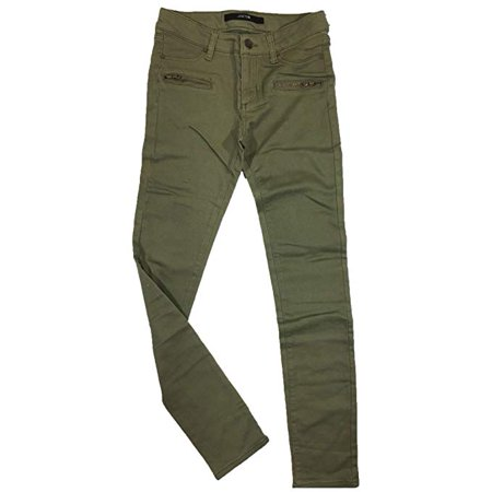 Joe's Jeans Girl's Slim Fit Jegging Jeans w/Zipper Pockets, Olive Green, Size (Best Slim Fit Jeans 2019)
