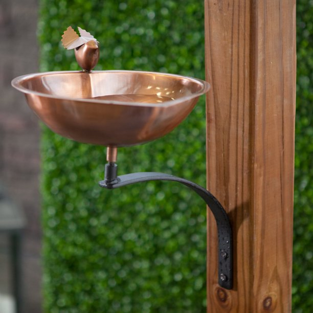 Heart Shaped Bird Bath With Wall Mount