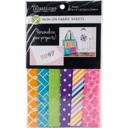 """Fabric Editions Fusible Sheets 8""""X9"""" 6/Pkg-Brights"""