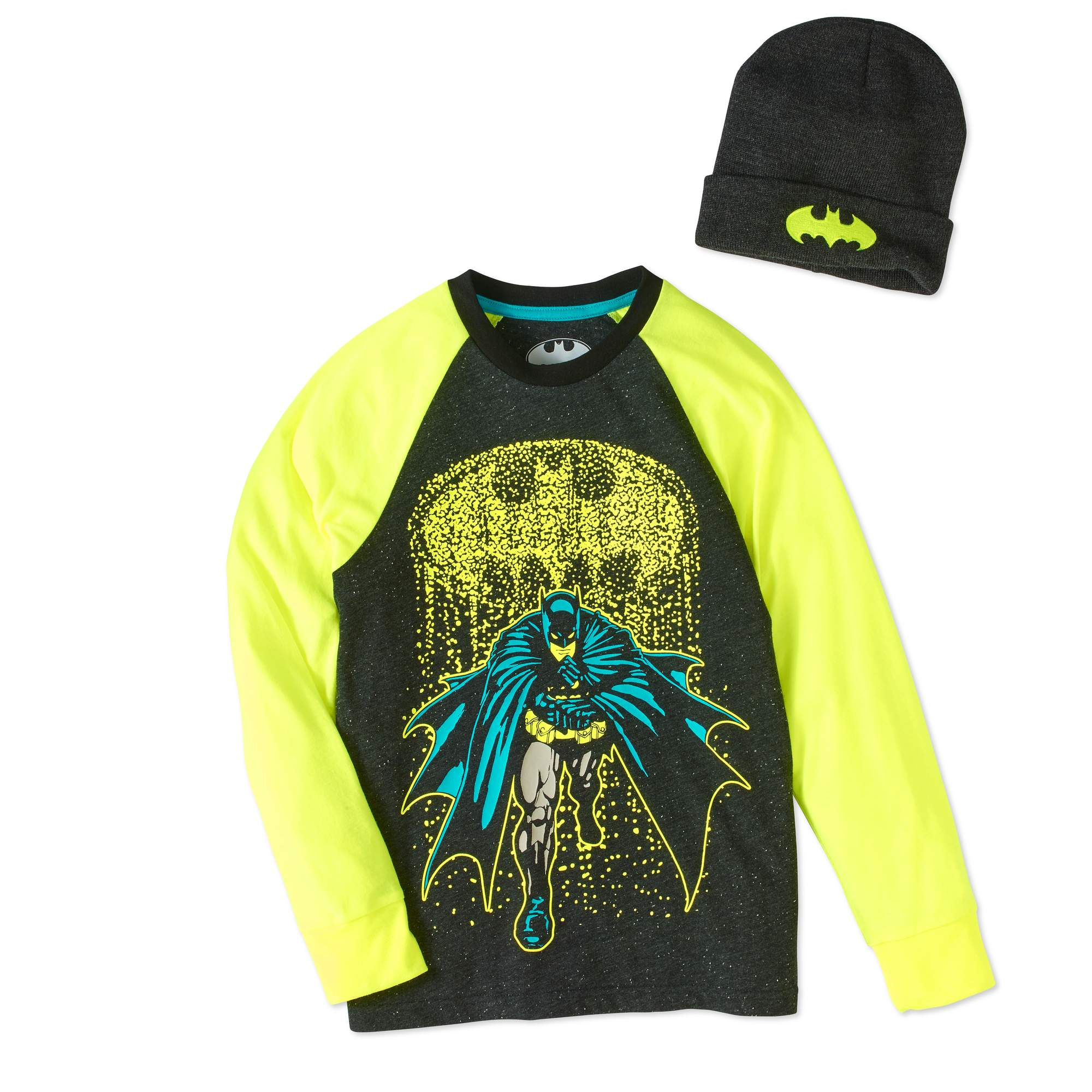 Batman Boys' Raglan Beanie Combo by Generic