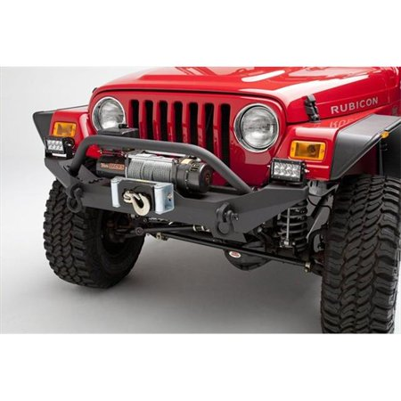 BODY ARMOR TJ19531 Steel Front Winch Bumper For Jeep Wrangler Yj And (Body Armor Jeep Bumpers)