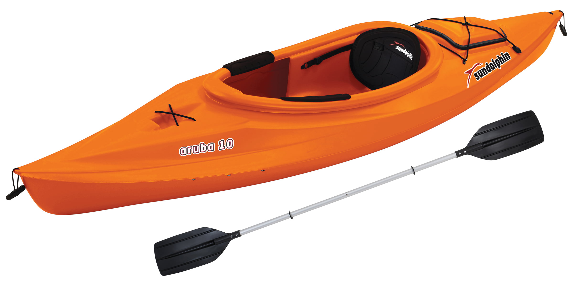 Sun Dolphin Aruba 10' Sit In Kayak Lime, Paddle Included by KL Outdoor