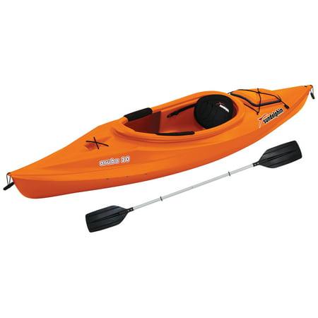 Sun dolphin aruba 10 39 sit in kayak paddle included for Sun dolphin fishing kayak accessories