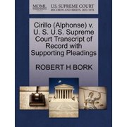 Cirillo (Alphonse) V. U. S. U.S. Supreme Court Transcript of Record with Supporting Pleadings