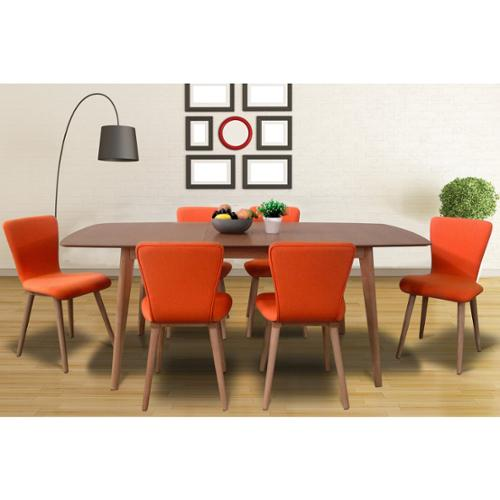 Dalia Tangerine Mid-Century 7-piece Living Room Dining Room Set by Overstock
