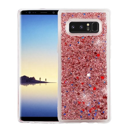 Samsung Galaxy Note 8 case by Insten Luxury Quicksand Glitter Liquid Floating Sparkle Bling Fashion Phone Case Cover for Samsung Galaxy Note (Glitter Music Note)