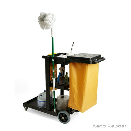 Mind Reader Commercial Heavy Duty Janitorial Utility Cart, - Janitor Cart