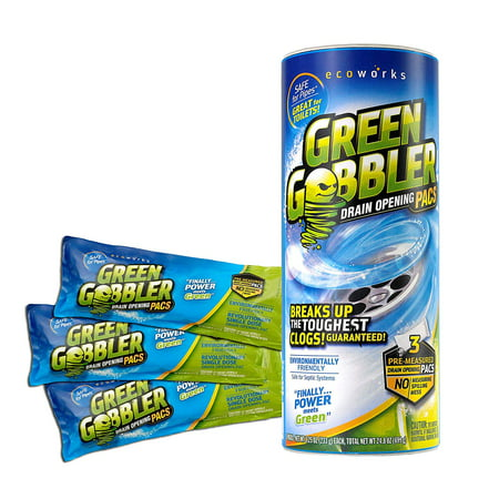 GGDC3SEMR Green Gobbler Breaks Up The Toughest Blogs, Easy to use, fast and powerful! great for toilet clogs! revolutionary single serve pac's By EcoClean (Best Solution For Clogged Toilet)