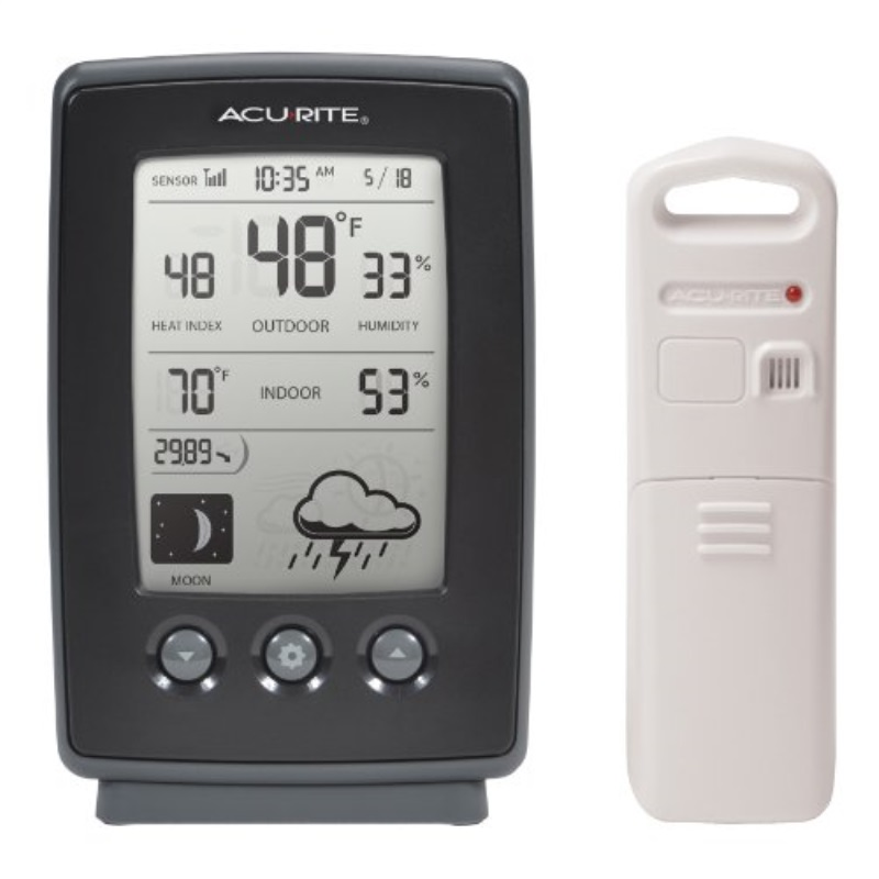 AcuRite 00829 Wireless Weather Station with Forecast, Temperature, Clock, Moon Phase